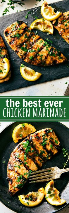 The absolute best chicken marinade recipe! Easy and delicious via chelseasmessyapron.com