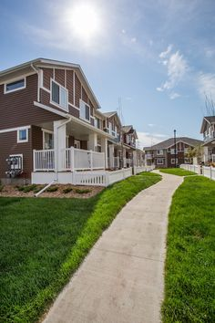 Life in Harbour Landing is a new townhome community located in Regina's beautiful Harbour Landing Townhouse, Landing, Community, Mansions, House Styles, Life, Beautiful, Decor, Decoration