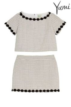 Buy Yumi Girls Grid Check Top And Skirt Set online today at Next: Peru