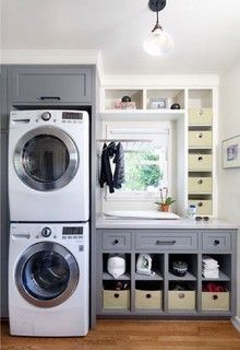 Awesome 90 Awesome Laundry Room Design and Organization Ideas Small laundry room ideas Laundry room decor Laundry room makeover Farmhouse laundry room Laundry room cabinets Laundry room storage Box Rack Home Grey Laundry Rooms, Laundry Closet, Laundry Room Organization, Laundry Room Design, Laundry In Bathroom, Organization Ideas, Storage Ideas, Basement Laundry, Storage Shelves