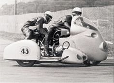 50 YEARS AGO: MIRACLE AT MONZA, 12th September 1954: In the Italian Grand Prix, Wilhelm Noll with Fritz Cron in the sidecar were the first to see the checkered flag from their fully faired BMW sidecar combination. The upshot: it was the first the World Sidecar Championship title for Germany and the first for BMW.