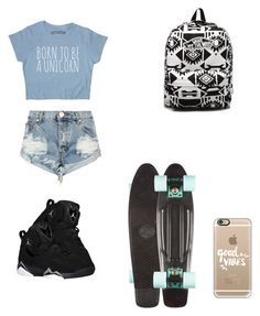 """Untitled #111"" by volleyballstar43 ❤ liked on Polyvore featuring OneTeaspoon, Casetify and Vans"