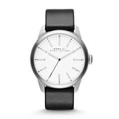 Dillon Three Hand Stainless Steel Watch - Black Smart, minimal style radiates from the classic Marc by Marc Jacobs Dillon timepiece featuring stainless steel and a striking white dial.