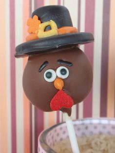 Tom Turkey Cake Pops Tom Turkey Cake Pops Source by jbhireable Holiday Cakes, Holiday Desserts, Holiday Treats, Holiday Fun, Fall Treats, Thanksgiving Cake Pops, Thanksgiving Recipes, Thanksgiving Baking, Holiday Baking