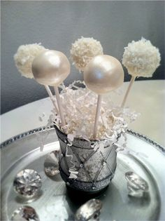 Shimmery Cake Pops...would be great for new years party