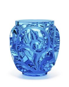 Tourbillons Limited Edition Blue Vase by Lalique at Neiman Marcus.