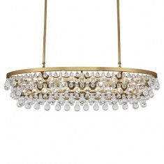 Robert Abbey Bling Oval Chandelier - Brass
