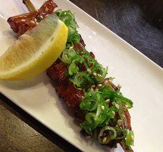 Gaku Yakitori in San Jose, CA: Tripe... First stomach with miso and lemon.
