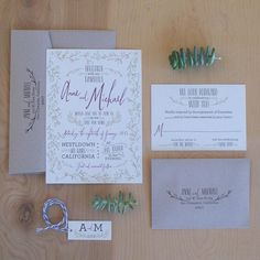 This invite utilizes space brilliantly. | The 25 Most Beautifully Illustrated Wedding Invites