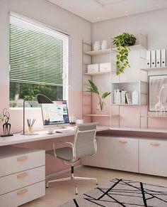 Study Room Decor, Teen Room Decor, Room Ideas Bedroom, Diy Bedroom Decor, Home Room Design, Home Office Design, Home Office Decor, Decor Interior Design, Home Decor
