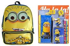 Despicable Me Themed Backpack Folders Notebook Memo Pad Pencil Pouch Pencils Sharpener and Er @ niftywarehouse.com #NiftyWarehouse #DespicableMe #Movie #Minions #Movies #Minion #Animated #Kids