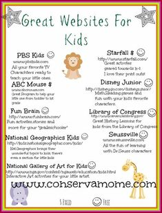 This fun round up of over 25 Great Educational Websites For Kids will keep them busy for hours exploring and learning about the world around them. This is a great list of Learning sites for kids. Learning Websites For Kids, Learning Sites, Learning Tools, Fun Learning, Teaching Kids, Children Websites, Preschool Websites, Preschool Curriculum Free, Pre K Curriculum