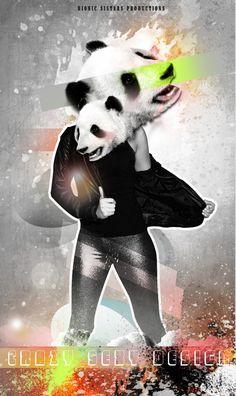 Crying Panda Bear - nightclub sexy poster Flyer DJ on the Behance Network