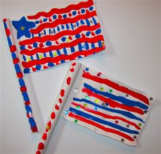 This is a clever project- using one piece of paper - Patriotic Folded Flag