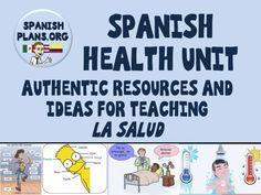 Spanish Health Unit Pinterest Board https://www.pinterest.com/spanishplans/spanish-health-unit/