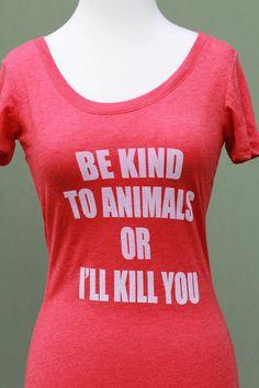 All sizes women's Animal rights rescue by VonStreichergoods, $23.00