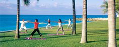 At Grand Lucayan hotel, Senses Spa & Fitness Center provides complimentary aerobics, spinning, Pilates, yoga, and other classes. How cool would yoga by the ocean be?!