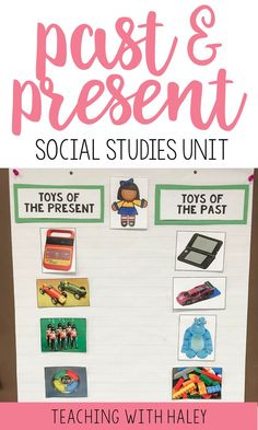 This mini unit is all you need to teach your little ones about past and present! Works for grades K-12! | past and present project, past and present worksheets, past and present social studies, past and present anchor chart, past and present history, then and now social studies, social studies units, long ago and today first grade