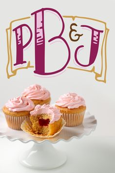 PB + J. Great on a sandwich. Greater in Cupcakes.