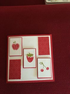 Real red card, old olive and real red markers. Used Tart and Tandy stamp set. ( stamping up )