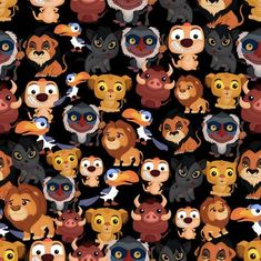 Disney fabric lion king fabric lion guard fabric c Disney Pixar, Disney Art, Art Roi Lion, Lion King Art, Craft Projects, Sewing Projects, Disney Fabric, Disney Background, Disney Images