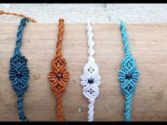 Pulseras macrame faciles y rapidas Macrame Bracelet Diy, Macrame Bracelet Patterns, Bracelet Crafts, Macrame Knots, Jewelry Crafts, Micro Macrame Tutorial, Macrame Jewelry Tutorial, Bracelet Tutorial, Macrame Hanging Planter