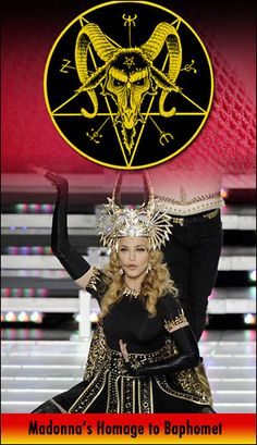 satanic hollywood madonna baphomet...its only destructive as long as its in your hemisphere...complete separation makes all these people harmless.....but their everywhere