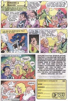 Crunchy Dice - An RPG Blog: TSR Dungeons and Dragons comic book advertisements - Page 5 of 8