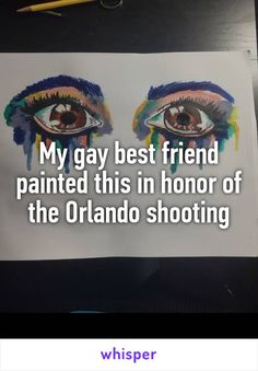 https://photography-classes-workshops.blogspot.com/ #Photography My gay best friend painted this in honor of the Orlando shooting