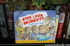 #kidlit Book of the Day: Five Little Monkeys Reading in Bed by Eileen Christelow