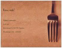 Diner, Algemeen feest Uitnodigingen en aankondigingen brunch chef