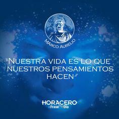 """""""Nuestra vida es lo que nuestros pensamientos hacen"""" Marco Aurelio #Frases…"""