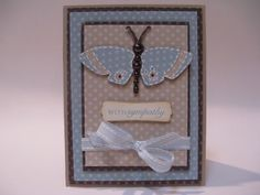 Courtney Lane Designs: butterfly sympathy card made using the Live Simply cartridge.
