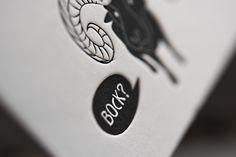Ist zwar Montag, aber Bock haben wir trotzdem! Visitenkarten für Herzblut & Bock // We know, it's monday, but we are motivated anyway! Businesscards for Herzblut & Bock #letterpressbusinesscards #letterpressonline #letterpresso