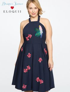 16a8a187e1d Eloquii Draper James For Parrot Embellished Dress - 26 #parrottips Plus  Size Designers, Curvy