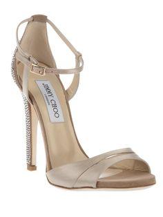 ed00ac121c7 Jimmy Choo gem-embellished stiletto sandal Nude Shoes