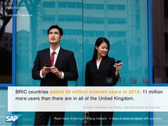 BRIC countries added 68 million internet users in 2014, more than total U.K. population