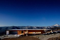 Modern architecture in harmony with a fantastic mountain panorama.