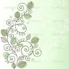 Vines and Leaves Notebook Doodle Design — Stock Vector © blue67 ...