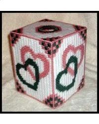 Interlocking Hearts Tissue Box Cover
