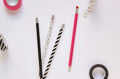 DIY Washi Tape Pencils | Julep
