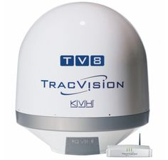 KVH TracVision TV-series offers advanced marine satellite TV systems with innovative TV-Hub below-decks unit that's easy to install and use for TV at sea. Tuna Tower, Ku Band, Tv Services, Phone Service, Digital Tv, Communication System, Cell Phone Accessories, North America, All In One