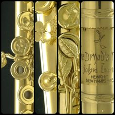 """""""The Dryad's Touch"""" handmade by John Lunn. Breathtakingly gorgeous 24 karat gold flute."""