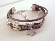 Bracelets liberty a faire soi meme Bracelets Liberty, Ribbon Bracelets, Jewelry Bracelets, Handmade Accessories, Jewelry Accessories, Handmade Jewelry, Jewelry Design, Bohemian Bracelets, Fashion Bracelets