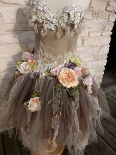fairy dream dress...do something like this to that sparkly pink dress I have