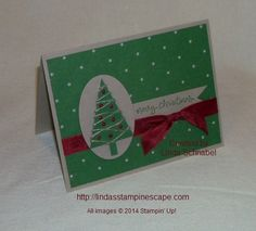 Merry Christmas from the Stampin' Up! Festival of Trees stamp set and coordinating punch. Full details and list of ingredients can be found on my blog:  htttp://llindasstampinescape.com