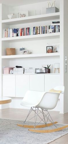 7 Aligned Clever Ideas: Small Floating Shelves Tvs floating shelf above bed diy.Floating Shelves Kitchen White floating shelves bedroom how to make. Living Room Storage, Home Living Room, Shelves, Interior, Floating Shelves Bedroom, Home Decor, Room Inspiration, House Interior, Home And Living