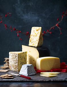 Cheese, shot by Stuart West, Represented by Piccallo Cheese Display, Christmas Cheese, Base Foods, Creative Food, Food Photography, Good Food, Food And Drink, Cheese Platters, Cooking Photography