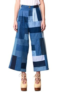 Mina Patchwork by Rodebjer Classy Outfits, Trendy Outfits, Denim Fashion, Fashion Outfits, Hijab Fashion Inspiration, Patchwork Jeans, Creation Couture, Recycled Fashion, Cute Jeans