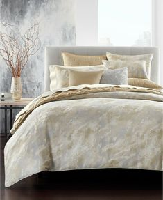 NEW Hotel Collection Eclipse Heather Grey QUEEN Duvet Cover MSRP $335 NICE!